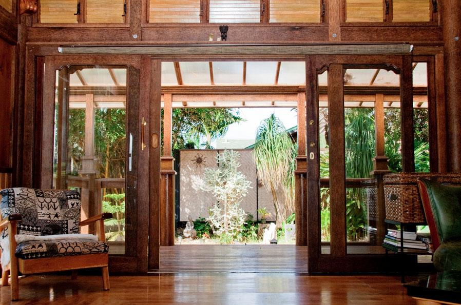 Front porch and doors - Paia Ohana Eco Home by Mandala Eco Homes