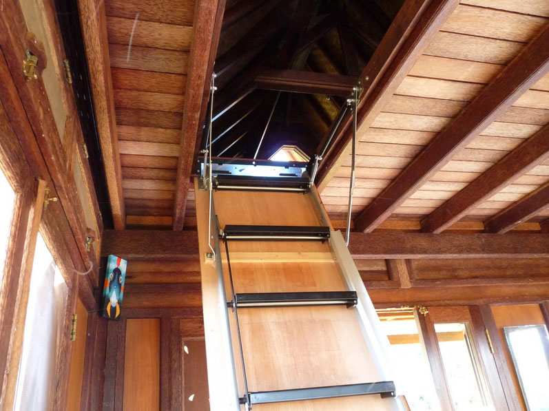 Kaupo Eco Cottage Roof Ladder by Mandala Eco Homes