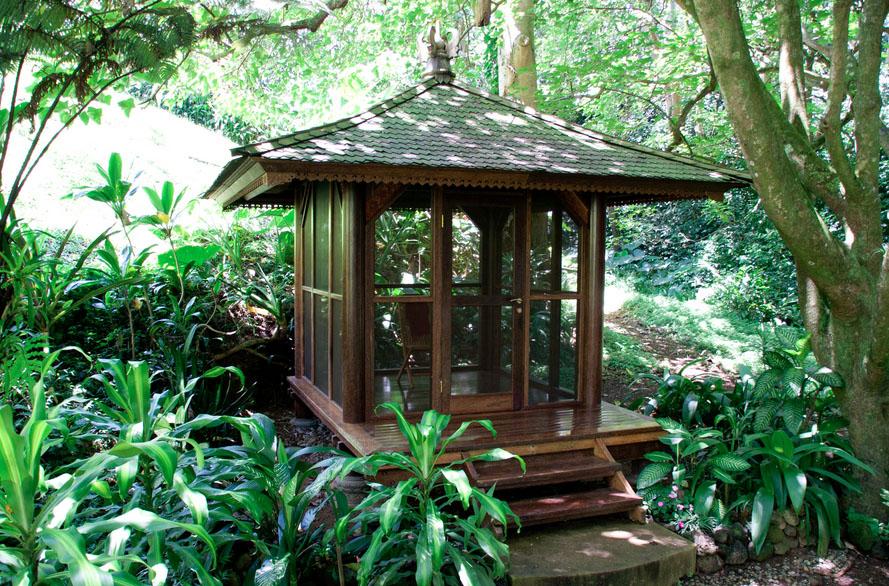 Meditation Screened Gazebo Tiny Temple Homes
